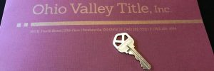 Ohio Valley Title folder and key