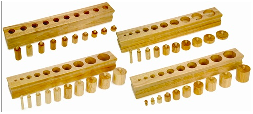 Knobbed Cylinders - Alison Montessori