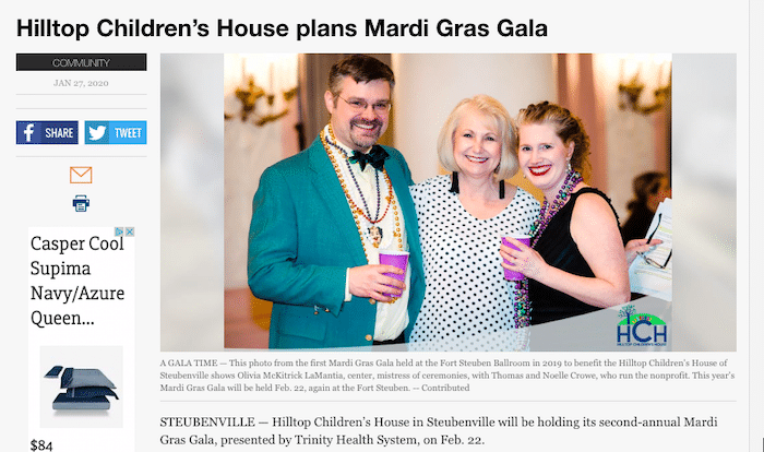 Herald Star Article on Mardi Gras